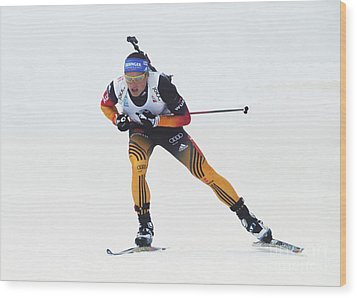 biathlete Erik Lesser Germany Wood Print