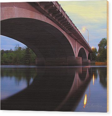 Wood Print featuring the photograph Biauswah Bridge by Gregory Israelson