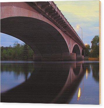 Biauswah Bridge Wood Print by Gregory Israelson