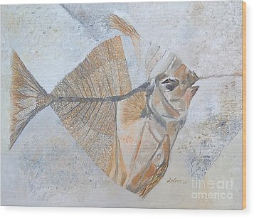 Wood Print featuring the painting Bibanul  by Delona Seserman