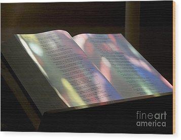 Bible Wood Print by Bernard Jaubert