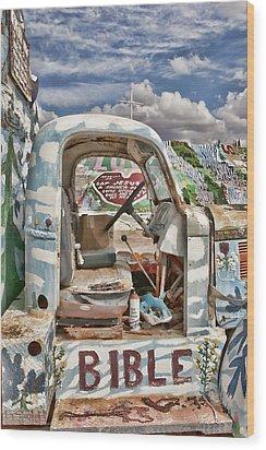 Bible Truck Wood Print by Hugh Smith