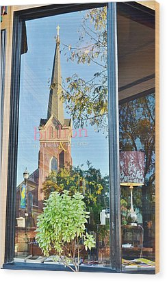 Biblion Used Books Reflections 3 - Lewes Delaware Wood Print