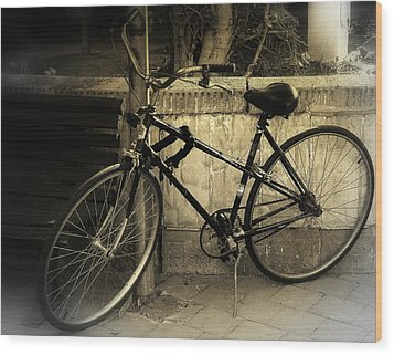 Bicycle Wood Print by Amr Miqdadi