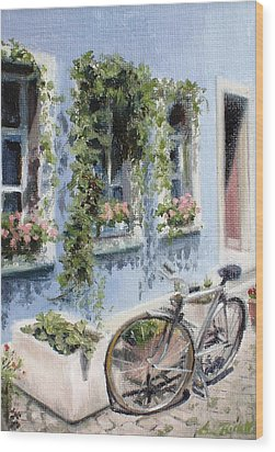 Bicycle In Zurich Wood Print