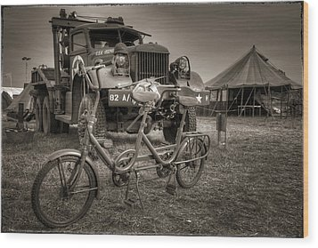Bicycle Made For Two Wood Print by Jason Green