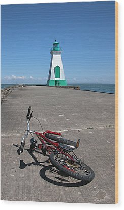 Bicycle Port Dalhousie Ontario Wood Print by John Jacquemain