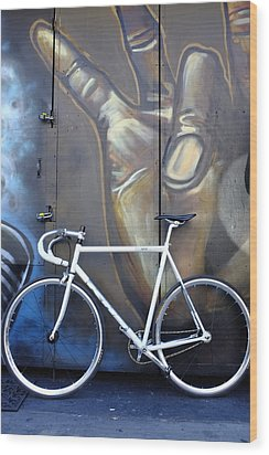Bicycle Toronto Ontario Wood Print by John Jacquemain