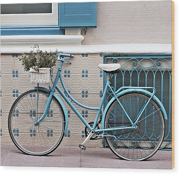 Vintage Bicycle Photography - Bicycles Are Not Only For Summer Wood Print