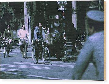 Bicycles In Beijing Wood Print