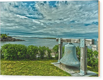 Biddeford Pool Bell Wood Print by Brenda Jacobs