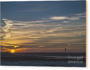 Biddeford Pool Maine Sunset Wood Print