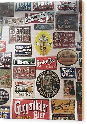 Bier Wall Wood Print
