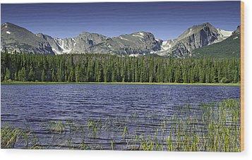 Bierstadt Lake Wood Print by Tom Wilbert