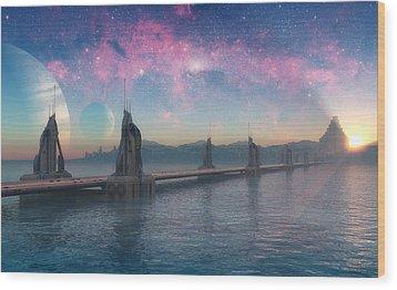 Bifrost Bridge Wood Print by Cynthia Decker