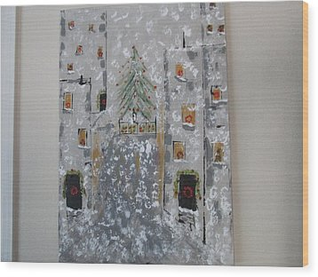 Big Apple Christmas Wood Print
