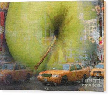 Big Apple Wood Print by Lutz Baar