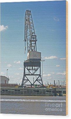 Big Arthur At Port Arthur Texas Wood Print