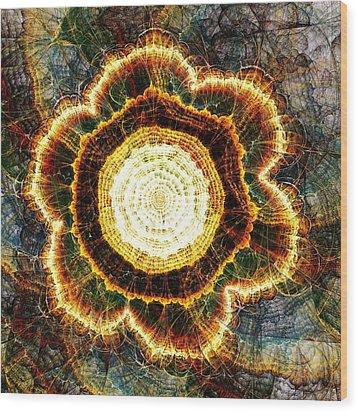 Big Bang Wood Print by Anastasiya Malakhova