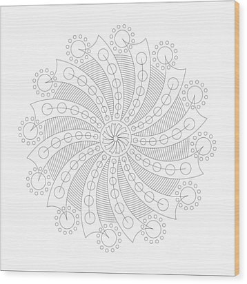 Big Bang Wood Print by DB Artist