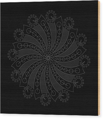 Big Bang Inverse Wood Print by DB Artist