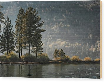 Wood Print featuring the digital art Big Bear Lake Scenic by Sharon Beth