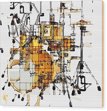 Big Beats Wood Print by Russell Pierce