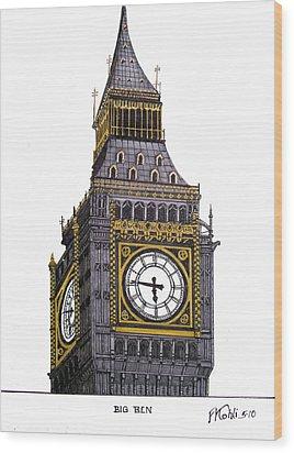 Big Ben Wood Print by Frederic Kohli