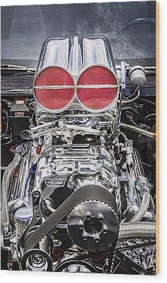 Big Big Block V8 Motor Wood Print