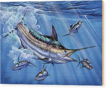 Big Blue And Tuna Wood Print