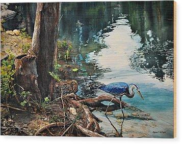 Big Blue At Carey Ranch Wood Print