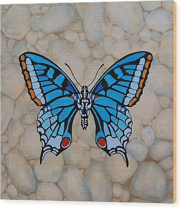 Big Blue Butterfly Wood Print