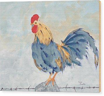 Big Blue Wood Print