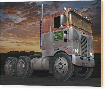 Big Bob's Cabover Wood Print