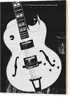 Big Ol Gibson Wood Print by Chris Berry