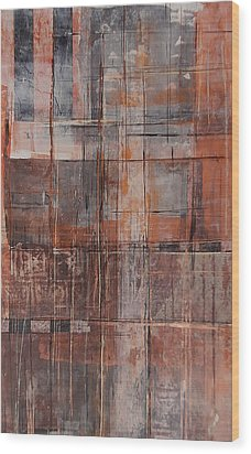 Wood Print featuring the painting Big Box Town by Buck Buchheister