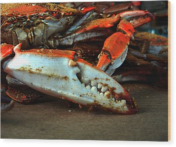 Big Crab Claw Wood Print by Bill Swartwout