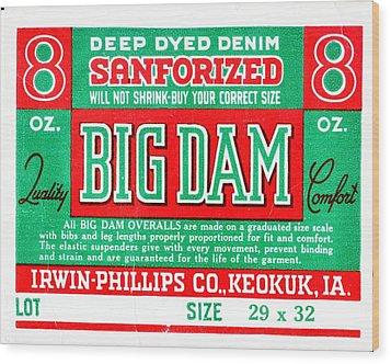Big Dam Quality Wood Print by Jame Hayes