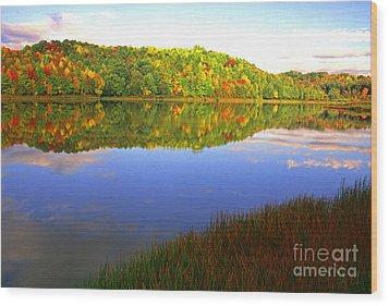 Big Ditch Lake West Virginia Wood Print by Thomas R Fletcher