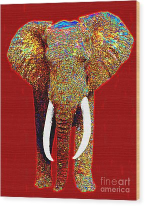 Big Elephant 20130201p0 Wood Print by Wingsdomain Art and Photography