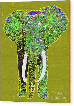 Big Elephant 20130201p60 Wood Print by Wingsdomain Art and Photography