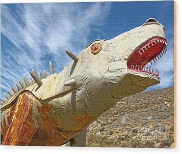 Big Fake Dinosaur - 02 Wood Print by Gregory Dyer
