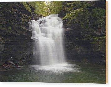 Big Falls In The Rain Wood Print