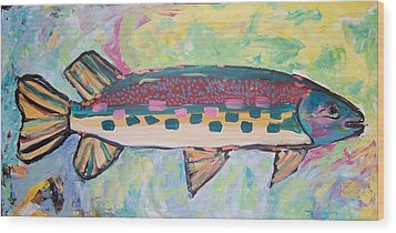 Wood Print featuring the painting Big Fish by Krista Ouellette