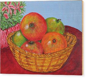 Big Fruit Wood Print by Melvin Turner