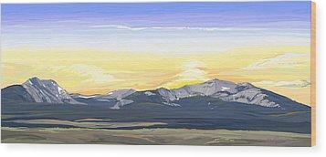 Big Hole Beaverhead Mountains Wood Print