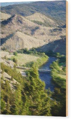 Big Hole River Divide Mt Wood Print by Kevin Bone