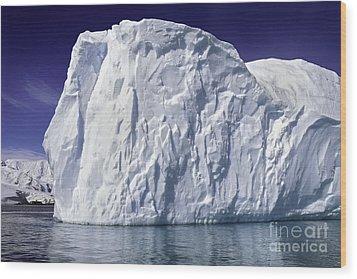 Big Iceberg Wood Print by Boon Mee