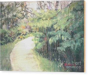 Big Island Pathway Wood Print