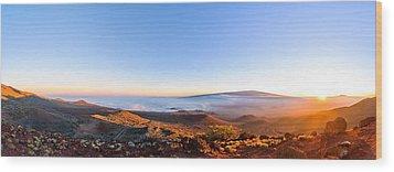 Big Island Sunset 2 Wood Print
